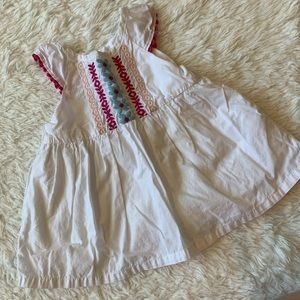 Gymboree white summer blouse size 12-18 months